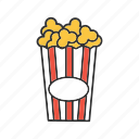 cinema, corn, film, food, movie, pop, popcorn icon