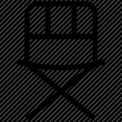chair, cinema chair, director, folding chair, studio icon