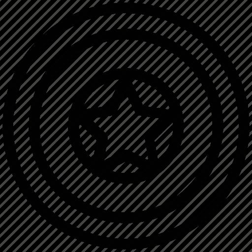 circular, circular star, favorite, like, sign, star icon