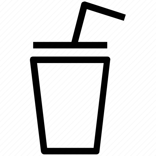 drink, glass, glass with straw, juice, refreshing, soft drink icon