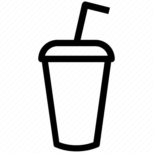 beverage, disposable cup, drink, glass with straw, juice icon