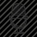 audio, broadcasting., microphone, music, radio, record, sound icon