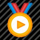 award, cinema, film, medal, movie, top10 icon