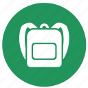 backpack, bag, camping, education, ransel, school bag icon
