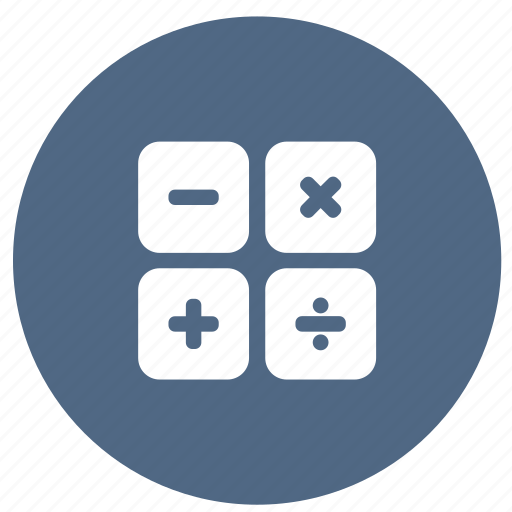 calculate, calculator, education, math, statistic icon