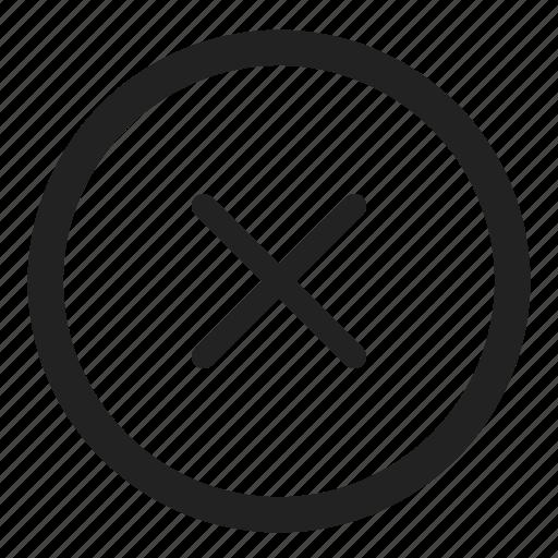 cancel, close, invalid, menu, stop, x icon