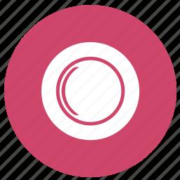 dish, food utensils, plate, restaurant icon