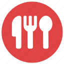 cutlery, dinner, eat, fork, knive, restaurant icon