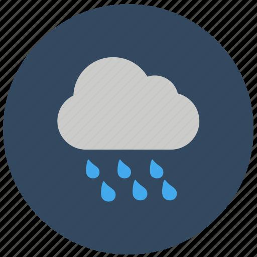 forecast, rain wind, showery weather, weather icon