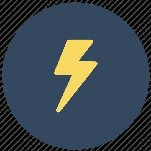 electricity, forecast, lightning, thunderbolt, weather icon