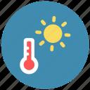 forecast, summer, temperature, weather icon