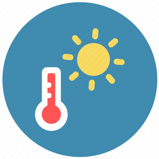 forecast, summer, temperature, weather icon