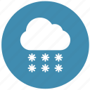 rain, snow, snowfall, weather, winter icon