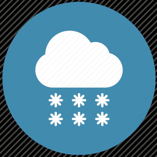 rain, snow, snowfall, weather, winter icon
