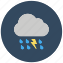 bad weather, forecast, rain wind, showery weather, thunderstorm, weather icon
