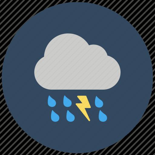 bad weather, forecast, rain wind, showery weather, thunderstorm, weather icon