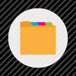 color, folder, tabs icon