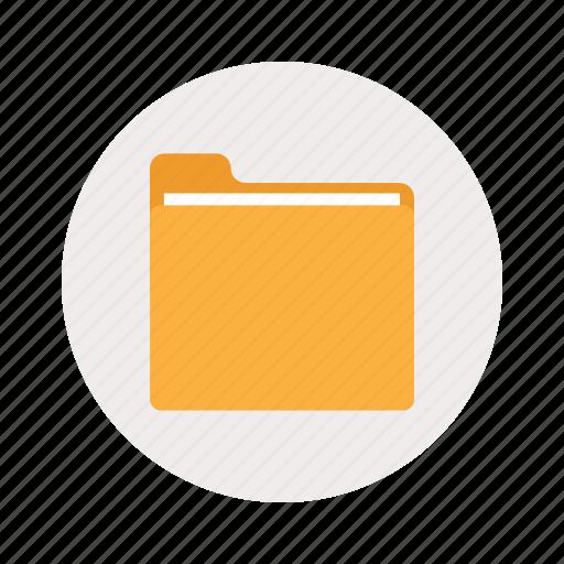 closed, folder, paper icon