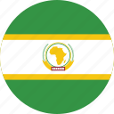 african union, african union's circled flag, african union's flag, flag of african union icon