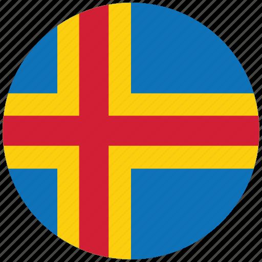 aaland, aaland's circled flag, aaland's flag, flag of aaland icon