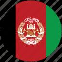afghanistan, afghanistan's circled flag, afghanistan's flag, flag of afghanistan icon