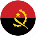 angola, angola's circled flag, angola's flag, flag of angola icon