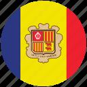 andorra, andorra's flag, flag of andorra, andorra's circled flag icon