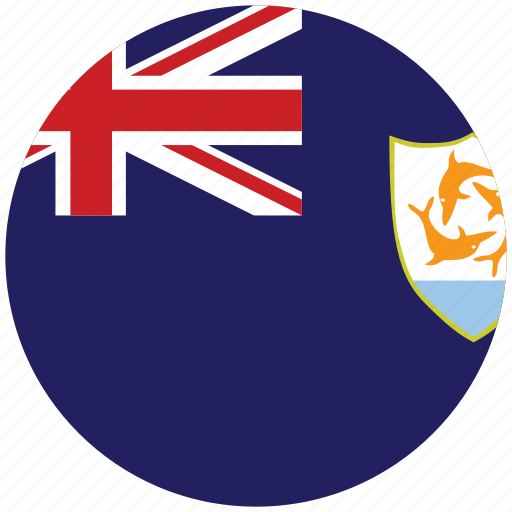 anguilla, anguilla's circled flag, anguilla's flag, flag of anguilla icon