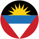 antigua, antigua's circled flag, antigua's flag, flag of antigua icon