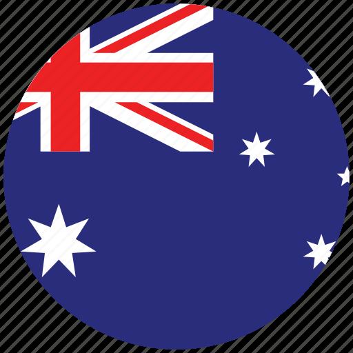 australia, australia's circled flag, australia's flag, flag of australia icon