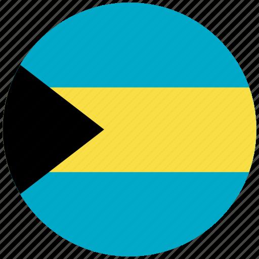 bahamas, bahamas's circled flag, bahamas's flag, flag of bahamas icon