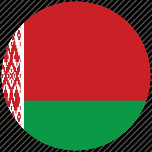 belarus, belarus's circled flag, belarus's flag, flag of belarus icon