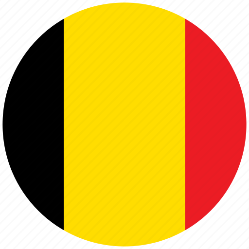 belgium, belgium's circled flag, belgium's flag, flag of belgium icon