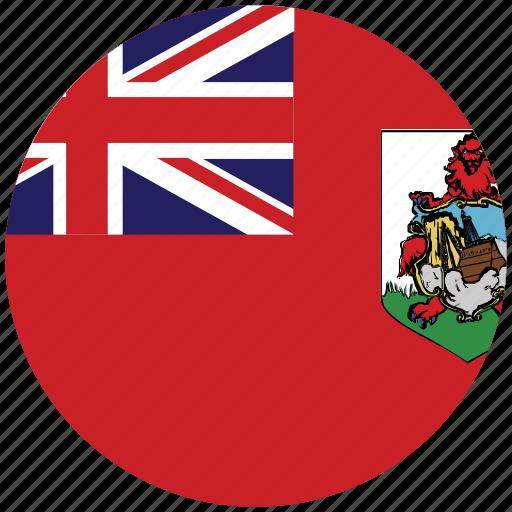 bermuda, bermuda's circled flag, bermuda's flag, flag of bermuda icon