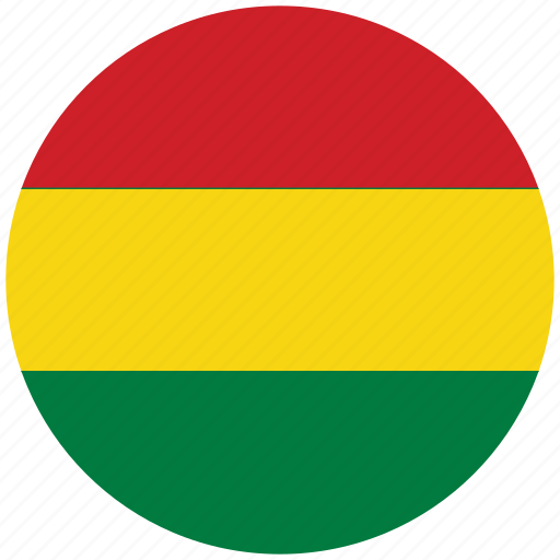 bolivia, bolivia's circled flag, bolivia's flag, flag of bolivia icon