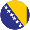 bosnia, bosnia's circled flag, bosnia's flag, flag of bosnia icon