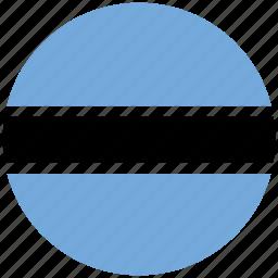 botswana, botswana's circled flag, botswana's flag, flag of botswana icon