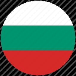 bulgaria, bulgaria's circled flag, bulgaria's flag, flag of bulgaria icon