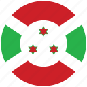 burundi, burundi's circled flag, burundi's flag, flag of burundi icon