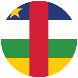 central africa, central africa's circled flag, central africa's flag, flag of central africa icon