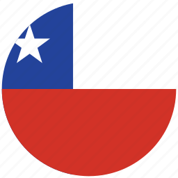 chile, chile's circled flag, chile's flag, flag of chile icon