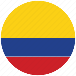 columbia, columbia's circled flag, columbia's flag, flag of columbia icon