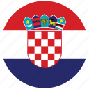 croatia, croatia's circled flag, croatia's flag, flag of croatia icon