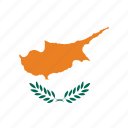cyprus, cyprus's circled flag, cyprus's flag, flag of cyprus icon