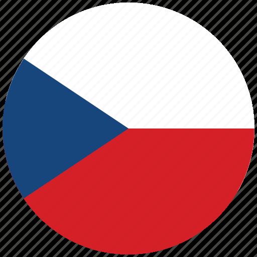 czech republic, czech republic's circled flag, czech republic's flag, flag of czech republic icon
