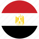 egypt, egypt's circled flag, egypt's flag, flag of egypt icon