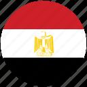 egypt, egypt's flag, flag of egypt, egypt's circled flag icon