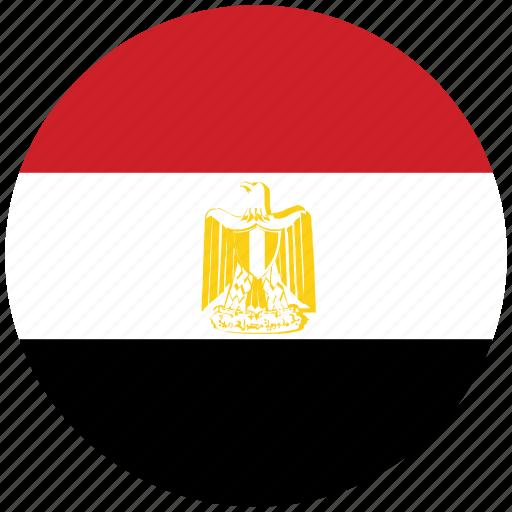 egypt, egypt's circled flag, egypt's flag, flag of egypt icon