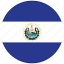 el salvador, elsalvador's circled flag, elsalvador's flag, flag of elsalvador icon