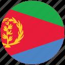 eritrea, eritrea's circled flag, eritrea's flag, flag of eritrea icon